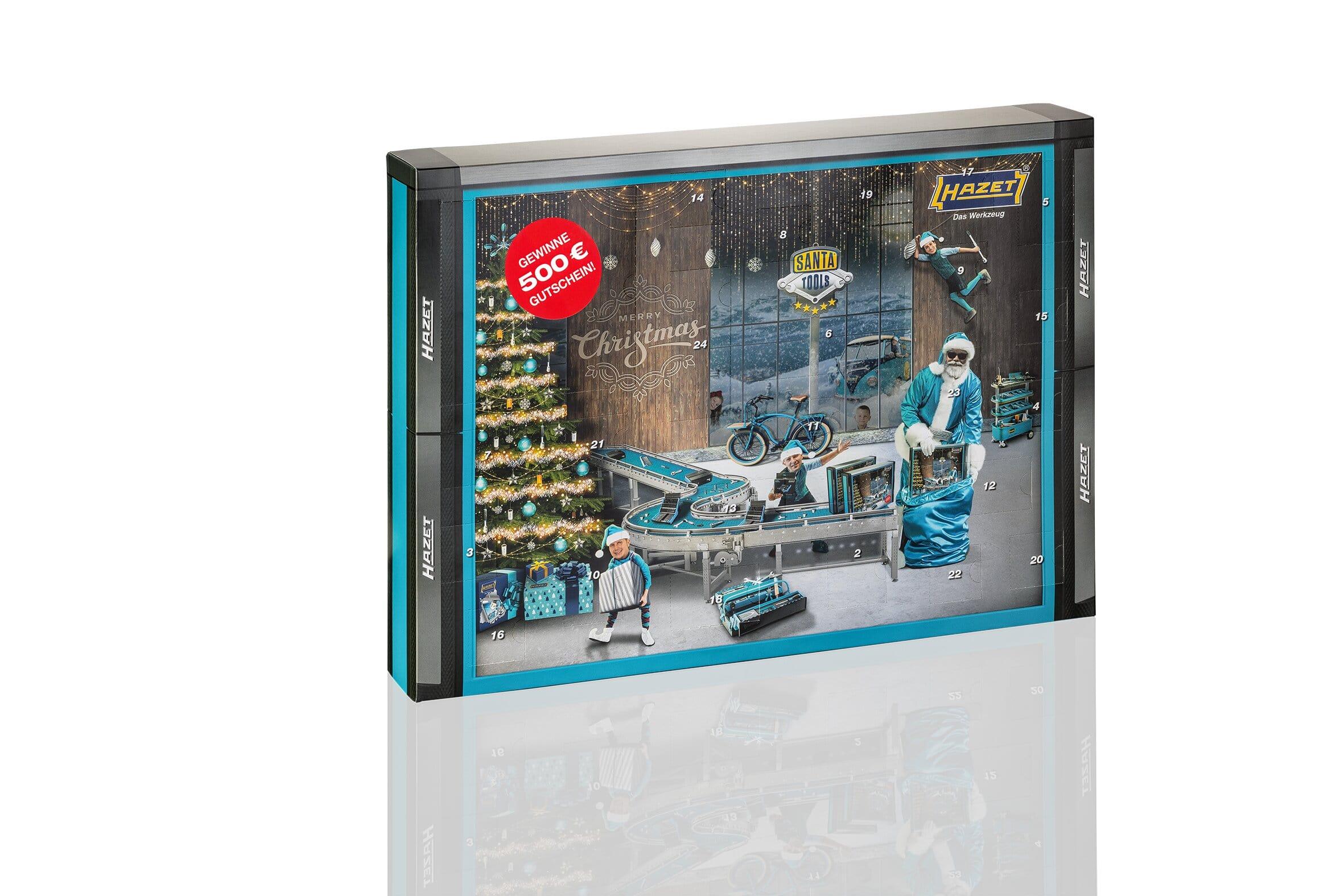 "HAZET Werkzeug-Adventskalender ""Santa Tools"" 2021"